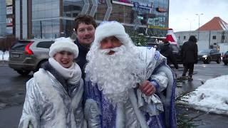 Боремся с ДТП на переезде вместе с Дедом Морозом!