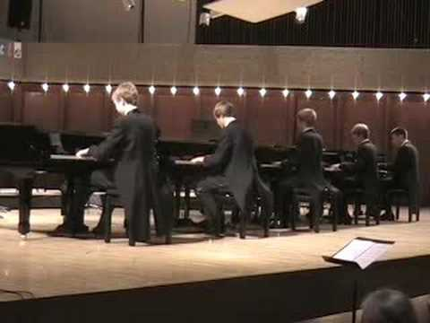 The Beethoven Ecossaise from a Five Piano concert that I produced and directed in 2008.