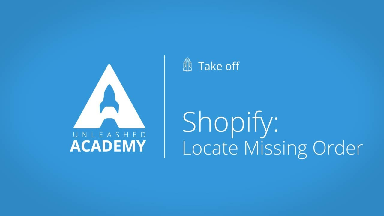 Shopify: Locate missing order YouTube thumbnail image