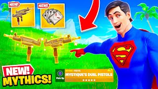 *NEW* MYTHIC WEAPONS in Fortnite! (Secret Skins, Guns + MORE)