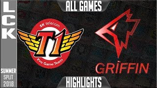 SKT vs GRF Highlights ALL GAMES \ LCK Summer 2018 Week 7 Day 4 | SKT T1 vs Griffin