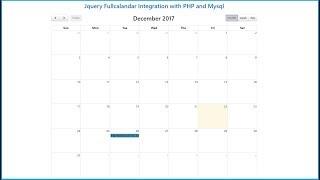Jquery Fullcalandar Integration with PHP and Mysql
