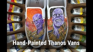Avengers Endgame - Thanos - Timelapse - Hand Painted Shoes
