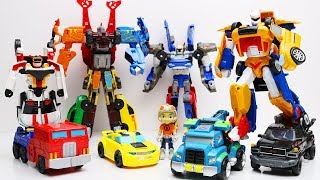 Tobot Robot Adventure vs Athlon! Transformers Stop Motion IronHide, Tritan Mainan Car Kids Toys