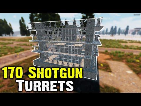 170 Shotgun Turrets Vs Horde Night - 7 Days To Die Alpha 18