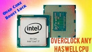 Overclocking non K Haswell CPU - Locking Turbo Boost