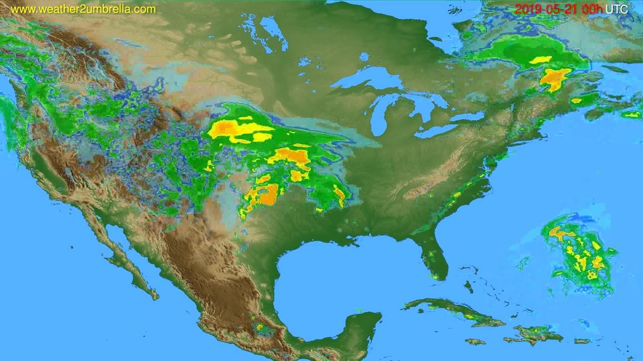 Radar forecast USA & Canada // modelrun: 12h UTC 2019-05-20