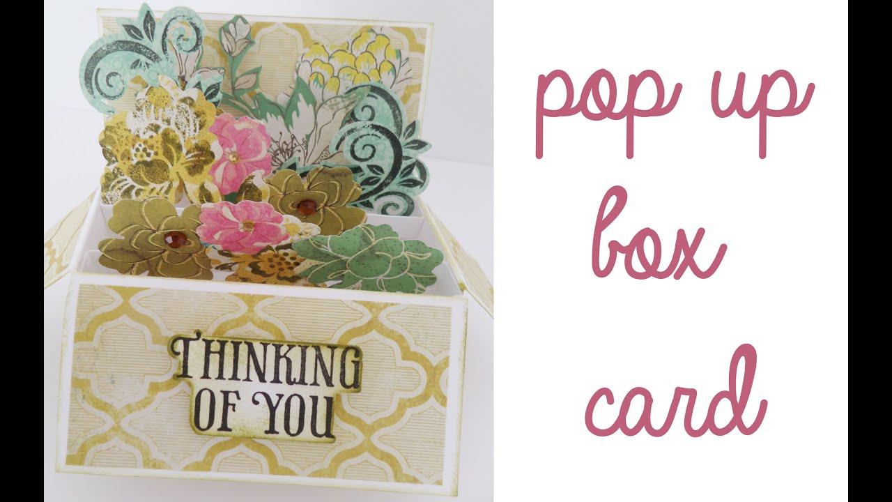 Manualidad para el día de la madre Pop up box card l Colaboración Día de la Madre