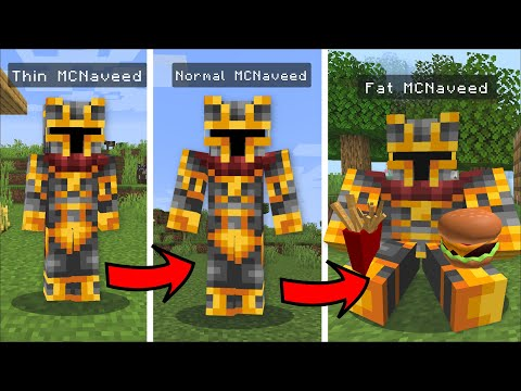 Minecraft MORE YOU EAT THE FATTER YOU GET MOD / DON'T EAT TOO MUCH !! Minecraft Mods