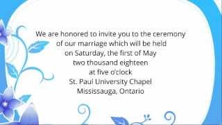 Wedding Invitation Wording Etiquette - Examples