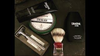 Classic Colognes- Drakkar Noir, Stirling Noir Shave Soap, Gillette Sensor Excel, Semogue 830.