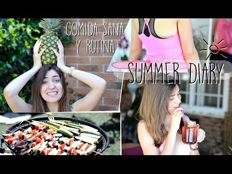 Comida sana y snacks + rutina semana 2 | SUMMER DIARY