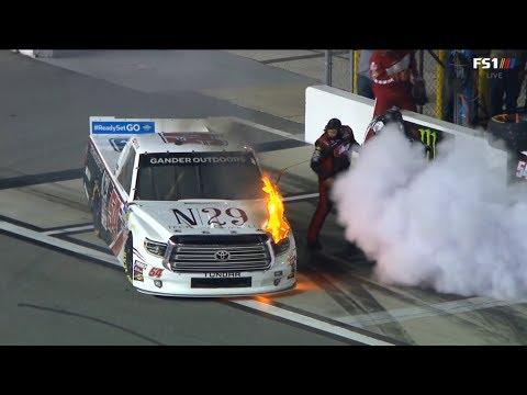 NASCAR Gander Outdoors Truck Series 2019. Daytona International Speedway. Start   Crash