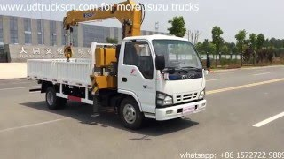 How to operation ISUZU Truck with crane 4tons?