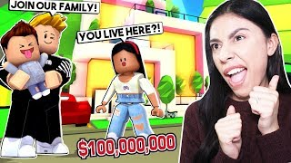 I BECAME A GOLD DIGGER SO I COULD LIVE IN A MILLIONAIRE MANSION! - Roblox Roleplay - Adopt Me