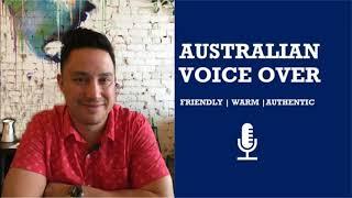 I will record a professional australian male voice over