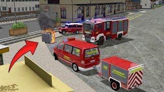 LS17 - Feuerwehr Einsatz - Brennender Papiercontainer