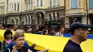 Харків сьогодні. Одна! Єдина! Соборна Україна. Акція на захист намету на пл. Свободи.