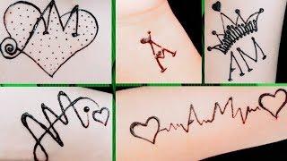 A & M Mehndi Tattoo Design   5 Beautiful Tattoos For A❤M   DIY Tattoo
