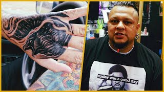 Getting A Full Hand Tattoo (OUCH!!)