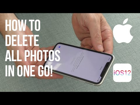 How to Delete all your photos on your iPhone in one go. IOS 12.