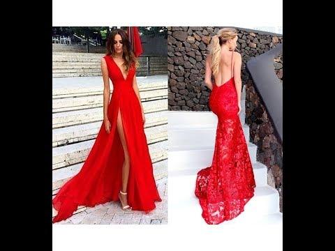 Rote Abendkleider Trends für 2018