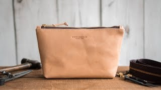 Making A Leather Zipper Pouch