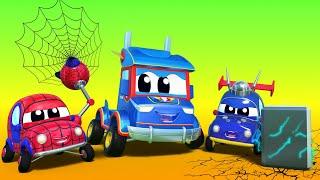 Super Truck - AVENGERS : Thor, Spider Man und Iron Man helfen, ein BOOT zu retten. - Cartoons