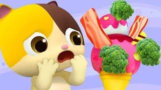 Do You Like Broccoli Ice Cream?   Colors Song   for kids   Kids Songs   Nursery Rhymes   BabyBus