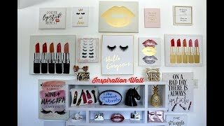 BEAUTY ROOM INSPIRATION WALL ART  | MAKEUP CANVAS COLLECTION