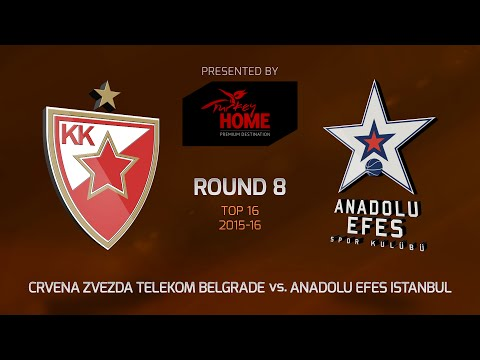 Highlights: Top 16, Round 8, Crvena Zvezda 91-82 Anadolu Efes Istanbul