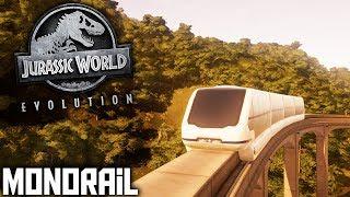Jurassic World Evolution - Ep 08 - Monorail! - Jurassic World Evolution Let's Play