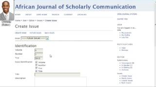 PKPSchool: OJS for Editors: Lesson 5: Creating a New Issue