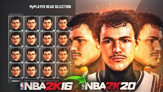 I BROUGHT BACK A NBA2k16 FACE CREATION BACK TO NBA2K20... *SHOCKING RESULTS* 😱😍
