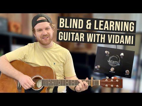 Blind and Learning Guitar Online | Vidami Looper