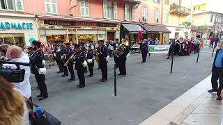 Band Performs at Flower Market in Nice, France