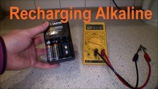 Charging Alkaline (NON-RECHARGEABLE) Batteries - 124