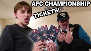 Surprising him with AFC Tickets!!! (emotional)   Kholo.pk
