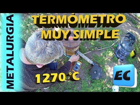 Termómetro casero para alta temperatura  muy facil. METALURGIA