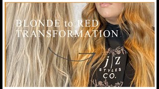 BLONDE TO RED TRANSFORMATION! HOW TO TUTORIAL