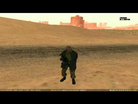 GTA San Andreas Call of Duty Modern Warfare 3 Skin Mods - смотреть