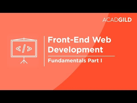 Front End Web Development for Beginners Part 1 - Fundamentals ...