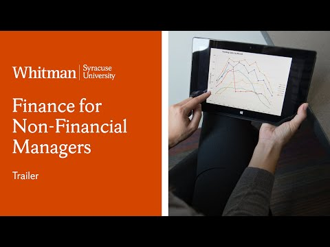 Finance for Non-financial Managers | Whitman School | Course Trailer