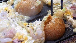 king takoyaki (대왕 타코야끼, たこやき, 章鱼小丸子 3,500KRW) / korean street food / 부산 부평 깡통시장