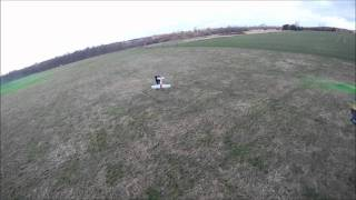 Homemade Fpv drone Quadcopter Snoopw111 videoing at the flying club with Gopro and ground station