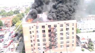 Lightening strike sets building on fire BROOKLYN.