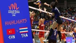 CHINA vs. THAILAND -  Highlights Women   Week 2   Volleyball Nations League 2019