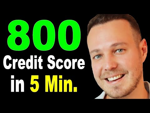 DIY - 5 Minute Credit Score Fix (800 Score) How to Fix Your Credit Score Fast.