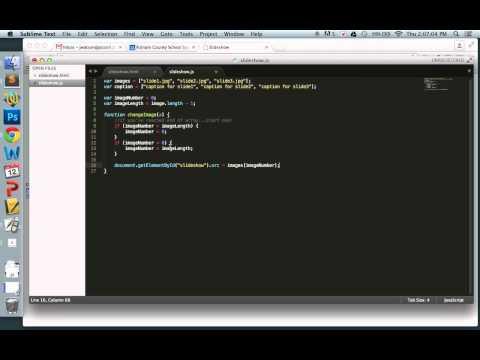 Create a simple JavaScript Slideshow – Programming Tutorial