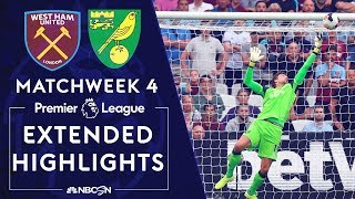 West Ham v. Norwich City | PREMIER LEAGUE HIGHLIGHTS | 8/31/19 | NBC Sports